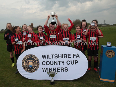 WILTSHIRE COUNTY U13 GIRLS CUP FINAL SWINDON SPITFIRES U13  v  MELKSHAM TOWN U13 GIRLS