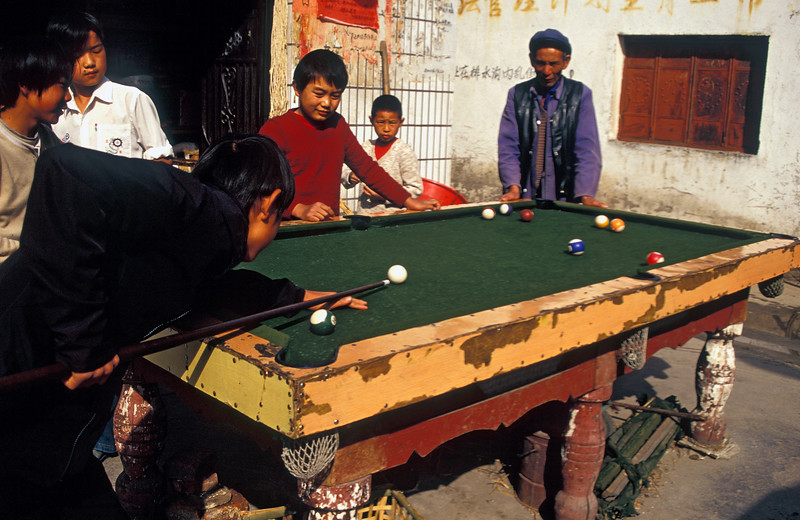 Game of Pool in Streets of Chinese Village