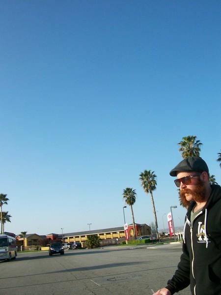 Steve McQuaide makin the walk back to the car from breakfast