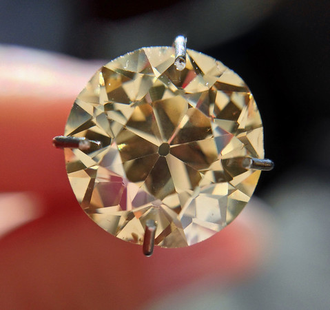 2.33ct Fancy Brown Yellow Old European Cut Diamond