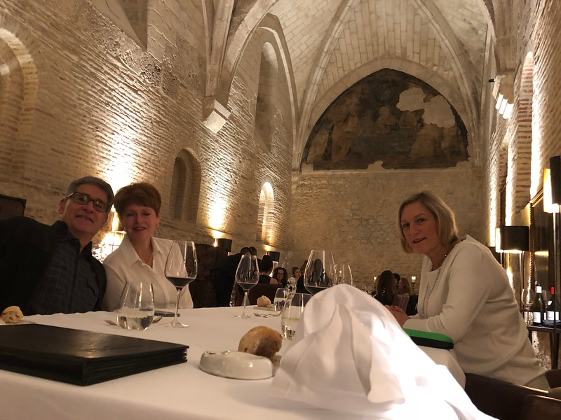 Dinner at Abadia 11th Century monastery