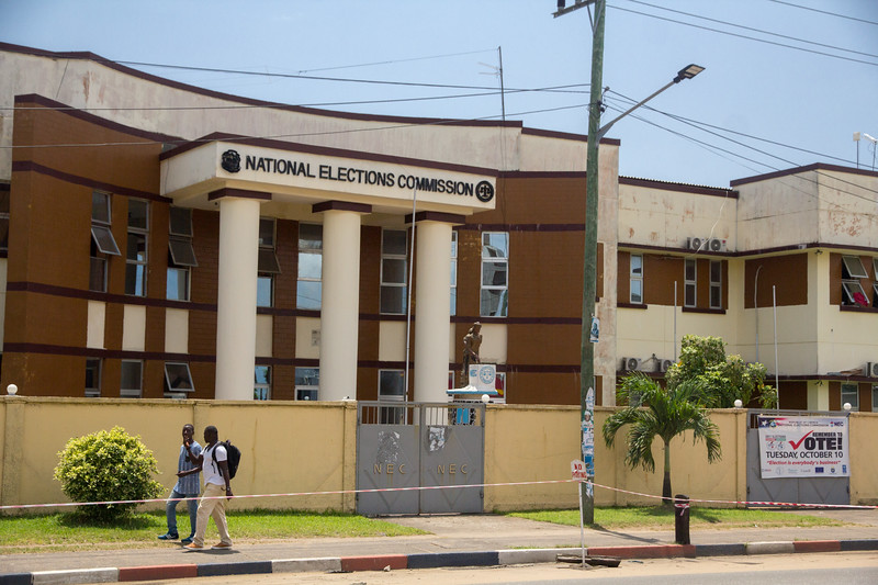 Monrovia Liberia October 5, 2017 - The National Elections Commission of Liberia.