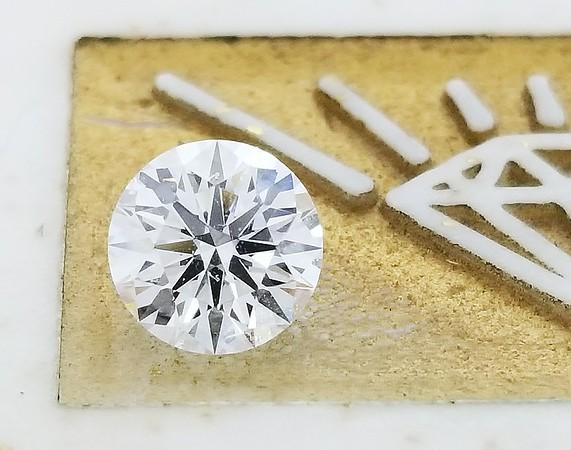 0.74ct Round Brilliant Cut Diamond - GIA D w/SBF, SI1