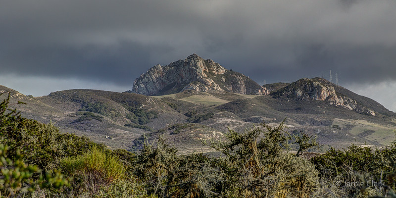 Hollister Peak, seen from Elfin Forest. Morro Bay