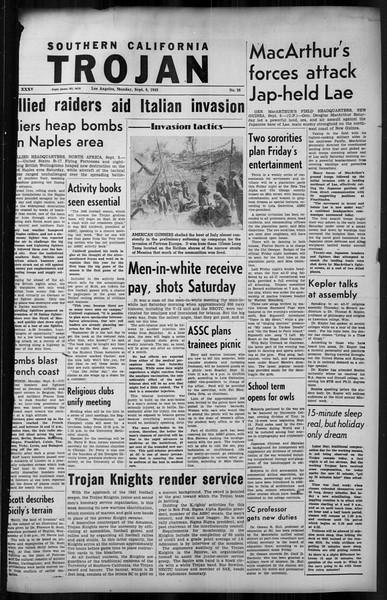 Southern California Trojan, Vol. 35, No. 28, September 06, 1943