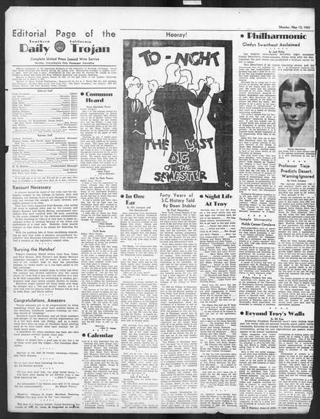 Daily Trojan, Vol. 26, No. 135, May 13, 1935