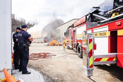 Stowe Township trash fire McKee Street