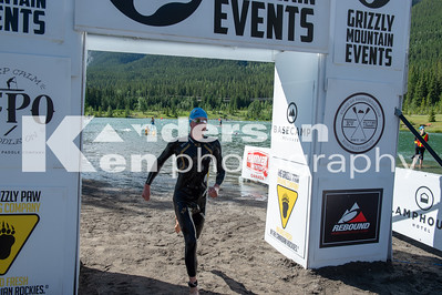 2018 Grizzly Open Water Swim Finish