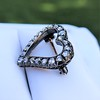 Victorian Rose Cut Witches Heart Pin 16