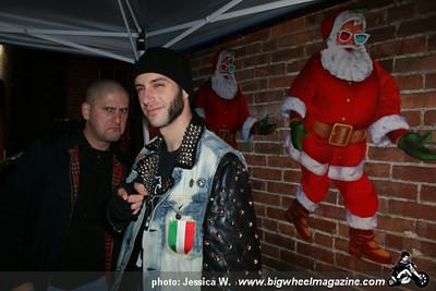 Johnny Madcap and The Distractions - Dirty Santa's - Hands like bricks - Ex-Gentleman - Slime Kings - at Old Towne Pub - Pasadena, CA - December 17, 2011