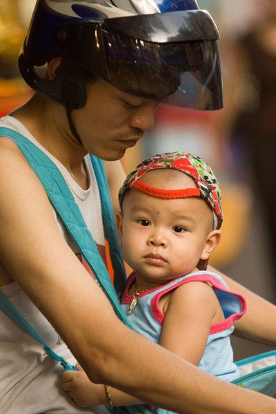 Father and son - Bangkok, Thailand