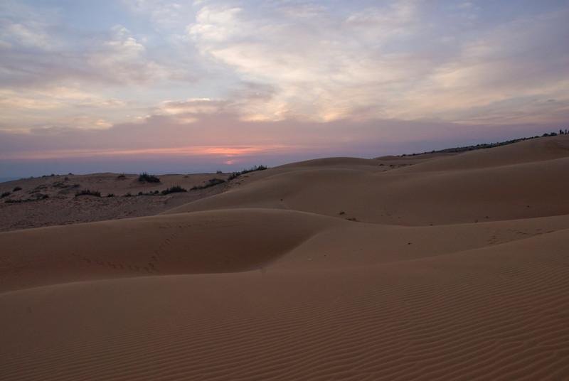 White sand dunes during sunset - Mui Ne, Vietnam