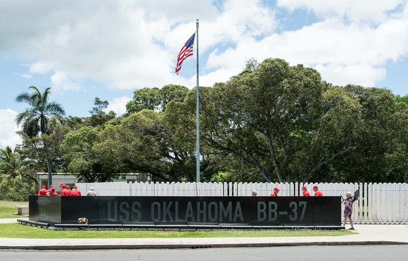 The USS Oklahoma Memorial, dedicated in 2007
