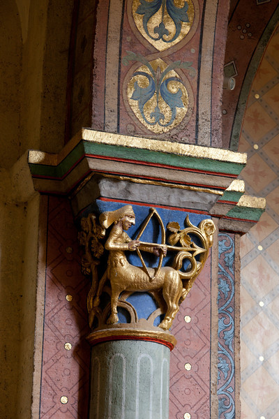Saulieu Abbey of Saint-Androche Capital, Sagittarius