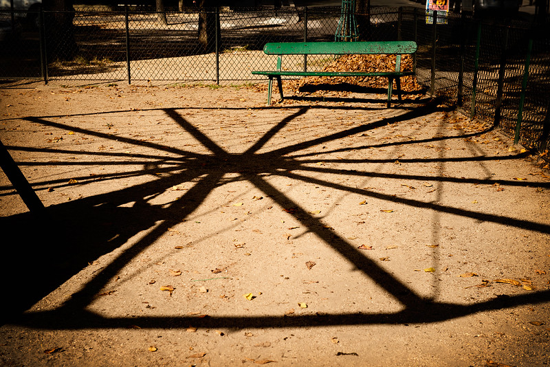 Hand operated carrousel  shadow