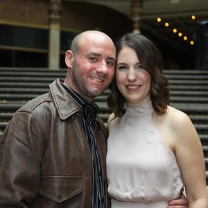 January 26, 2018. Lesley and Jason. Cleveland Arcade/Hyatt.