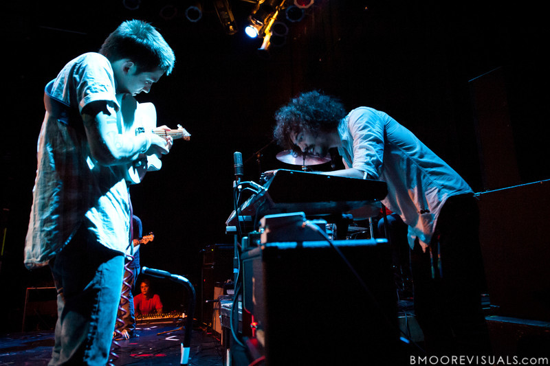 Tom Fekete (L) and Marcos Marchesani of Surfer Blood perform on September 19, 2010 at State Theatre in St. Petersburg, Florida.