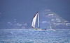 Luxury sailboat sailing in the British Virgin Islands.