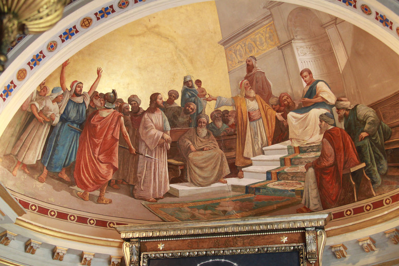 Murals inside the Achilleion Palace.