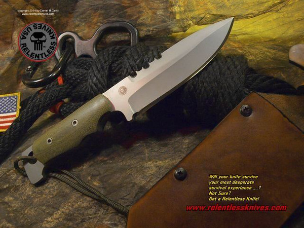 Relentless Knives M1 Commando Custom Military Survival knife