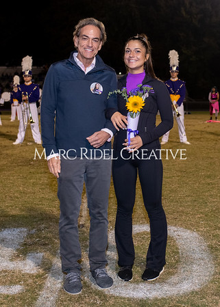 Broughton varsity football vs Cardinal Gibbons. Band and Dance Team Senior Night. October 25, 2019. MRC_3779