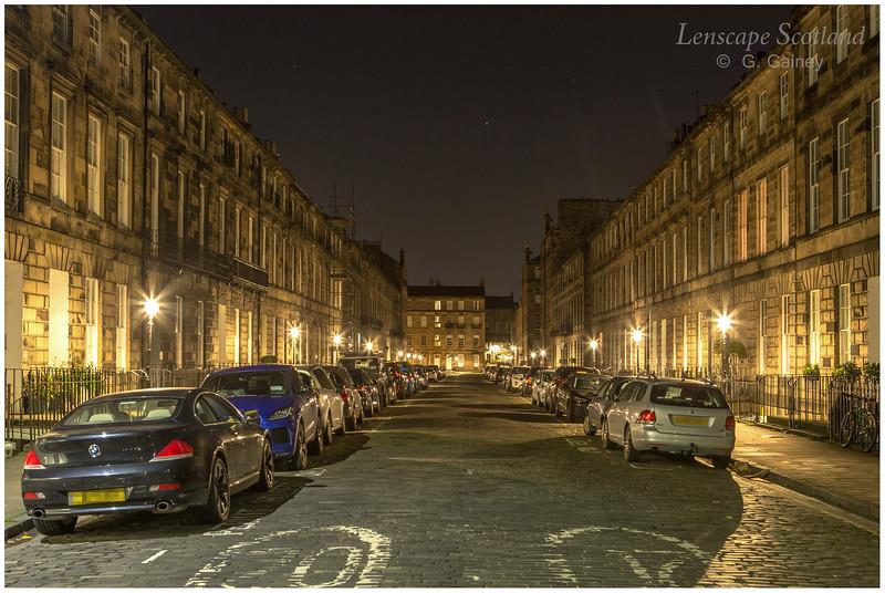 Northumberland Street at night