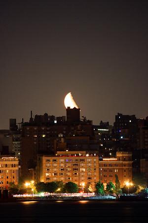 1/2 Super Moonrise 6-1-13 from Hoboken