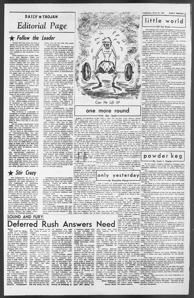Daily Trojan, Vol. 54, No. 85, March 20, 1963