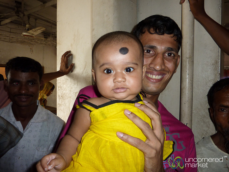 Happy Baby and Father - Rocket Steamer, Bangladesh