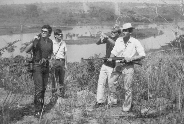 Julho, 1971_ Barragem  Carlos Caldas, Nuno Miranda, José João Mendonça e o Fraga