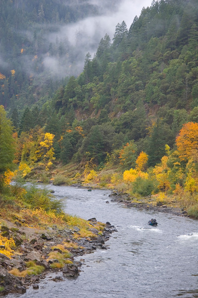 """October brings both """"half-pounders"""" and fall colors to the Rogue River Canyon."""