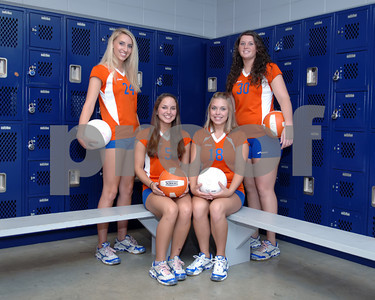 2009 Marshall County Volleyball Seniors, August 9, 2009.