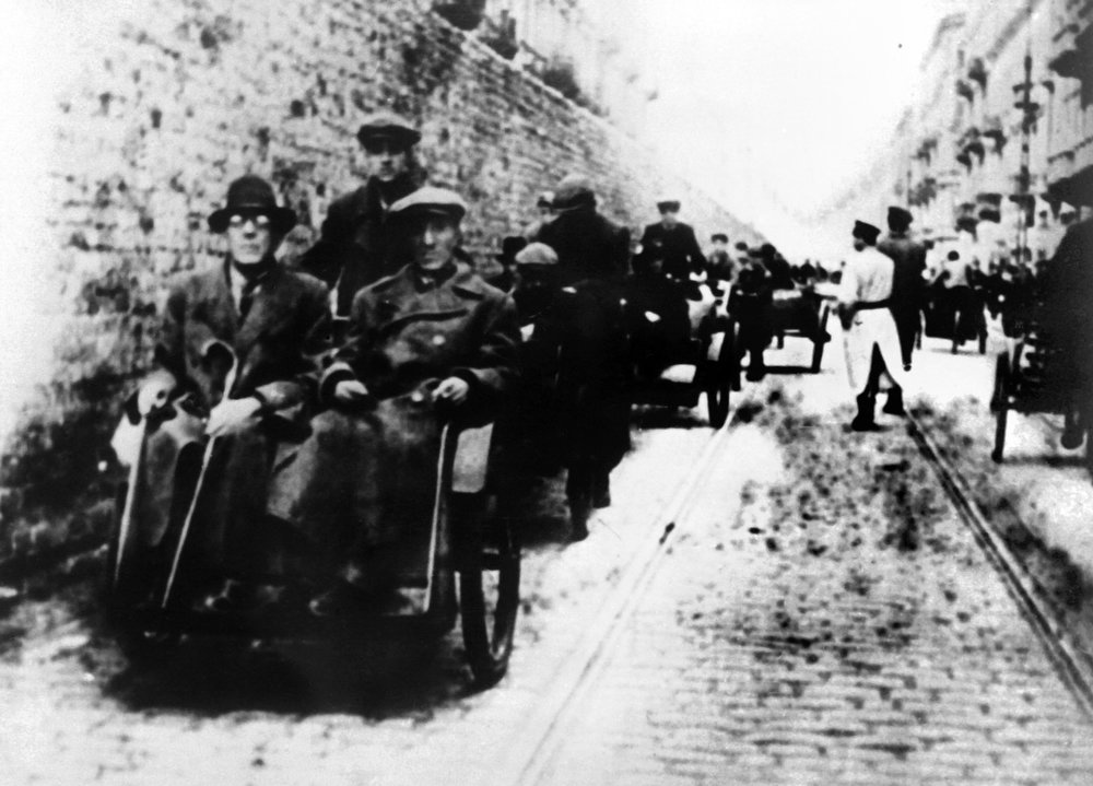 . A street scene in the Warsaw Jewish ghetto during World War II. AFP/CAF PHOTO   (AFP/Getty Images)