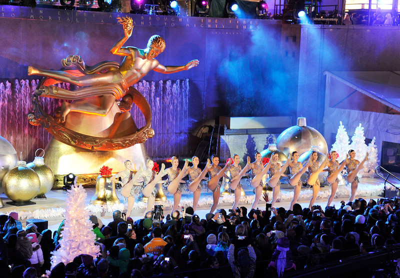 . The Rockettes perform at the 80th Annual Rockefeller Center Christmas Tree Lighting Ceremony on November 28, 2012 in New York City.  (Photo by Stephen Lovekin/Getty Images)