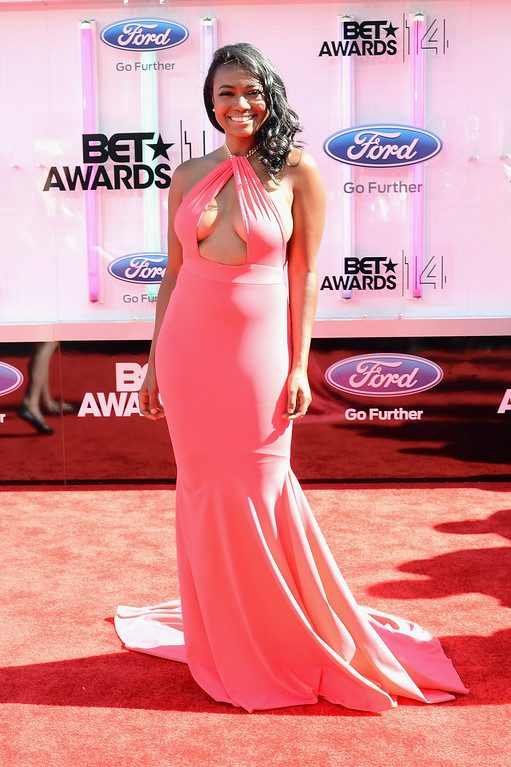 . Actress Tatyana Ali attends the BET AWARDS \'14 at Nokia Theatre L.A. LIVE on June 29, 2014 in Los Angeles, California.  (Photo by Earl Gibson III/Getty Images for BET)
