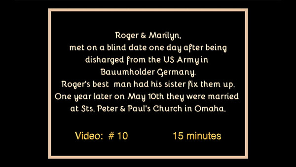 Roger & Marilyn's Wedding