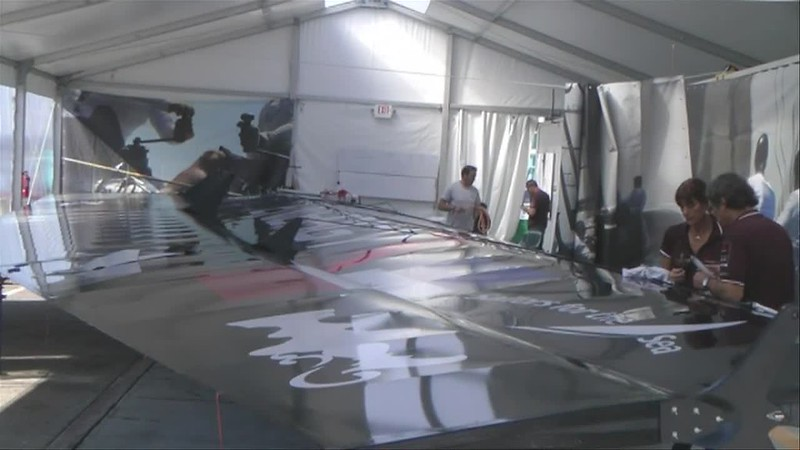 Last fall Benjamin and I were hired to do the  America's Cup forecasting. For the San Diego event we spent over a week on site doing the morning forecasts. And then in the afternoon we got inside view of the boats and the races. This video shows a lot of behind the scenes shots so you can see what these boat are like and their incredible acceleration. Remember the winds were in the 4-7 knot range during this video. There is not a trace of white caps.If you have not seen the helicopter and boat video of our Bay Area  work for the event take a look at that video next.Mike Godsey