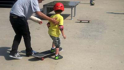 Mattie Learns To Skateboard