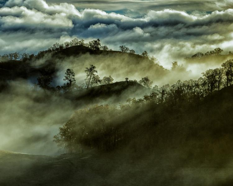 Sunrise thru the fog