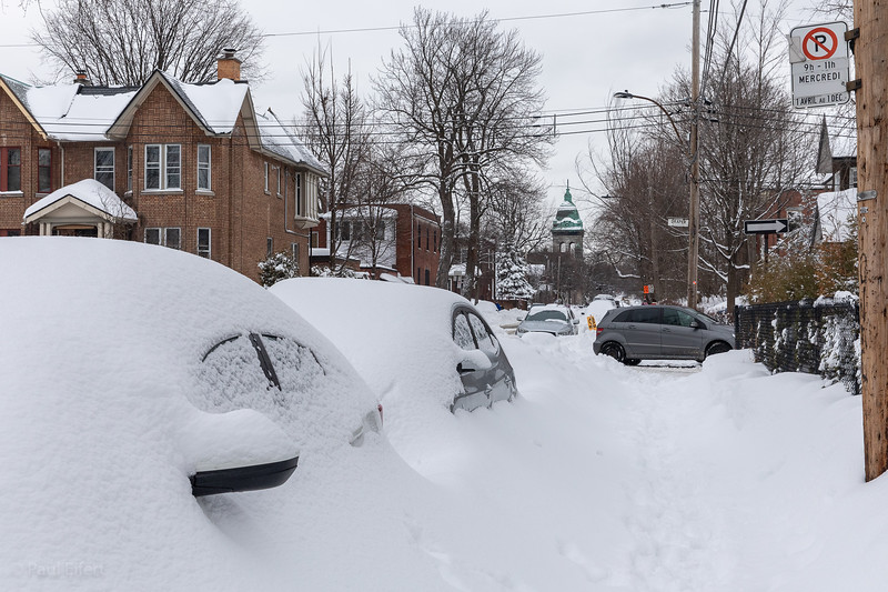 Snowstorm Streets of Montreal