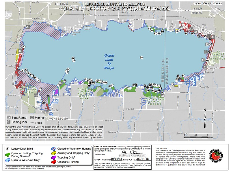 Grand Lake St. Marys State Park (Hunting Map)