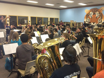 Wind Ensemble at Gilbert Jr. High   2/21/12