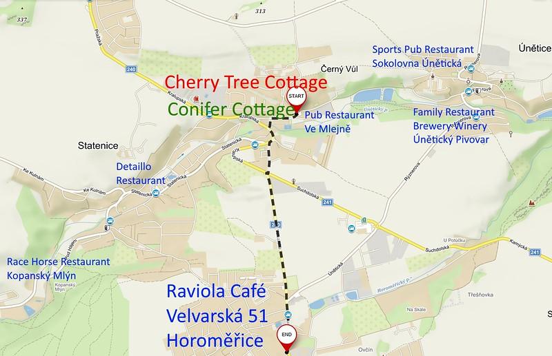 Directions to Raviola Horoměřice 3.7km