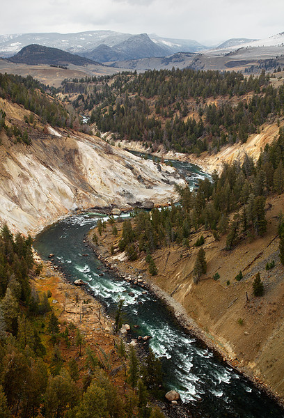 Bleached Cliffs & Calcite Springs - Yellowstone National Park