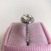 1.19ctw Old European Cut Diamond Halo Ring by A Jaffe 9