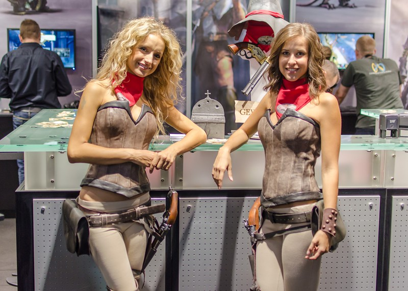 Booth models @ Gamescom 2012