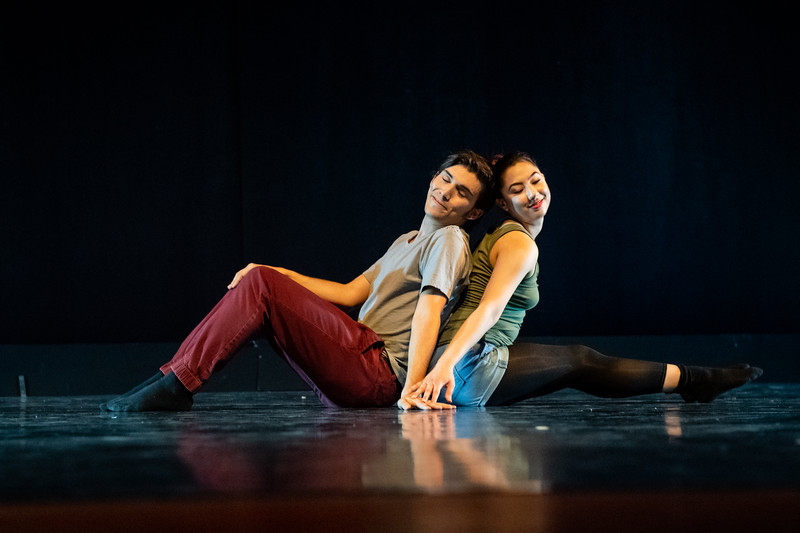 """""""Severance,"""" choreographed by Kristina Jaime, was performed by Brandon Besse and Jeselle Cantu in the fall 2018 Island Dance Demo."""