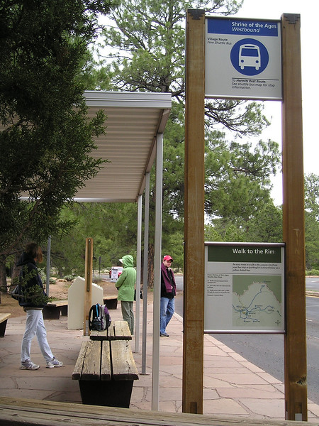 A different fiew of the shuttle bus stop. In case you needed one.