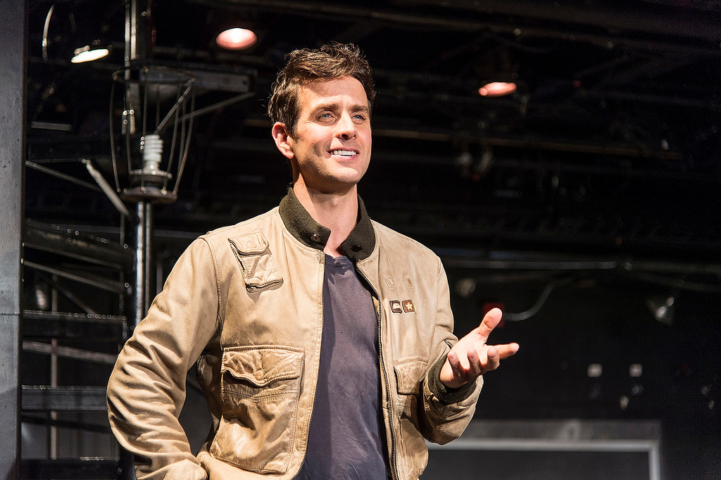 ". Former New Kid on the Block singer Joey McIntyre rehearses his one-man show ""The Kid\"" at the Denver Center for the Performing Arts. Photo Terry Shapiro, Provided the Denver Center Attractions"