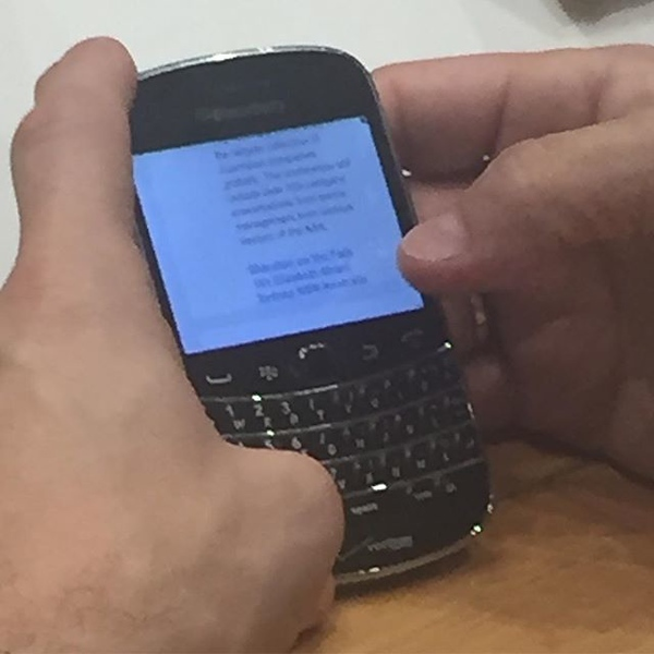 "So...man next to me in the airport...what exactly is this ""BlackBerry� device you are using? 😂😂"